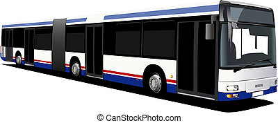 stad, vector, bus., illustratie