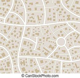 stad, vektor, seamless, bilkarta