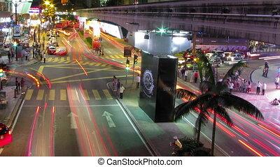 stad verkeer, lichten, de tijdspanne van de tijd