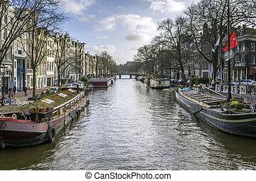 stad, wereld, een, beroemd, (pri, erfenis, unesco, kanalen,...