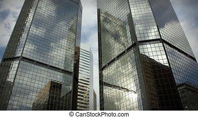 stad, wolkenkrabbers, zakelijk