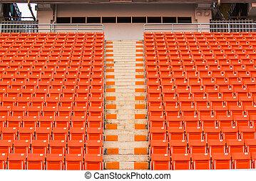stade, étapes, bleacher, sièges