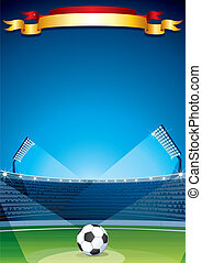 stade, arrière-plan., vecteur, conception, gabarit, football