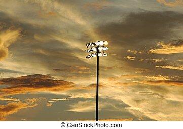 stade, lumières