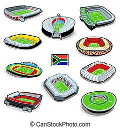 stades, football