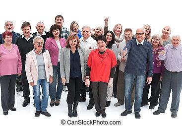 stading, felice, persone, insieme, sorridente