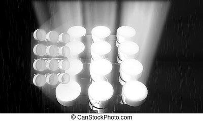 stadion, światła
