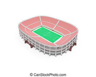 stadion, aus, weißes