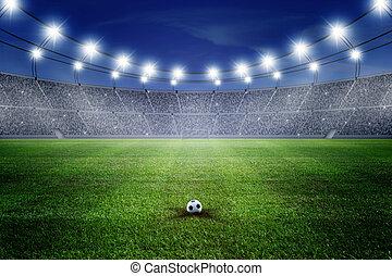 Fussballstadion Nacht Fussball Night Stadion Ansicht