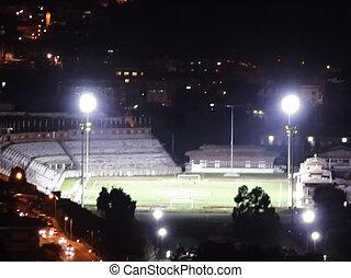 Stadium at night in Bhutan