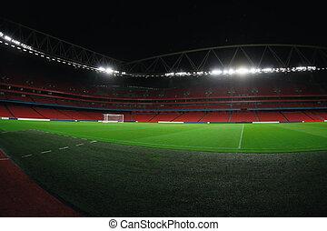 Stadium at night - Empty soccer stadium at night