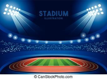 Stadium Background  Summer Games Vector Illustration
