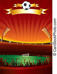 Stadium - Background with large stadium for your text or...
