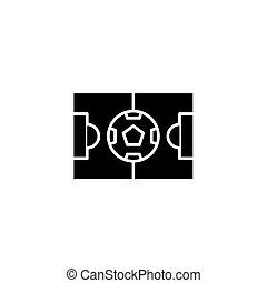 Stadium black icon concept. Stadium flat vector symbol, sign, illustration.