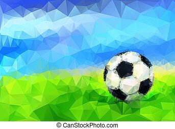 stadium., bola, futebol
