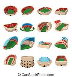 Stadium cartoon icons