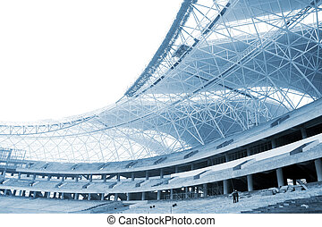 Stadium construction site - The stadium is not completed, ...