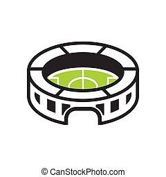 Stadium graphic design template vector isolated