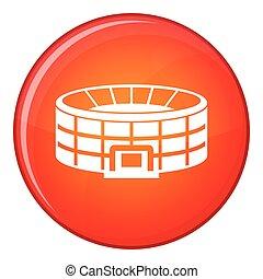 Stadium icon, flat style