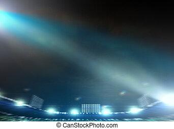 Stadium lights - Image of defocused stadium lights at night