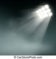 Stadium lights on a dark background.