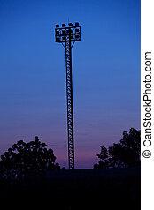 sports field at night