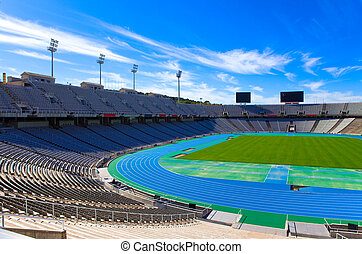 stadium., olimpico, barcelona.