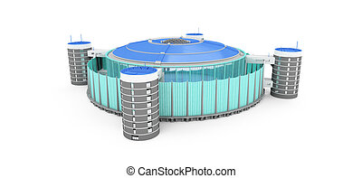 stadium over white - isolated stadium on a white background