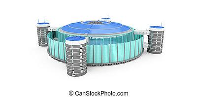 stadium over white - isolated stadium on a white background