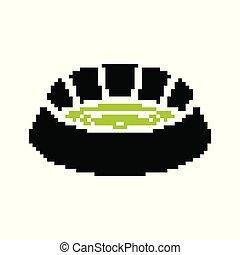 Pixel Sports Balls Vector Set Of Pixel Sport Balls For