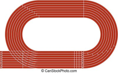 Stadium running track - Running track on stadium with lane...