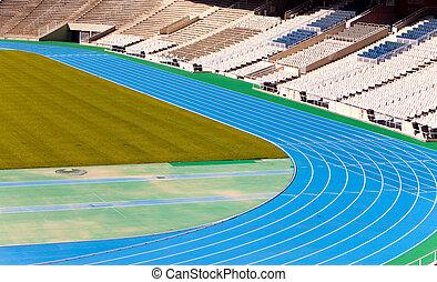 stadium. Running track