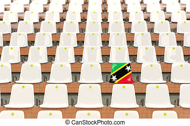 Stadium seat with flag of saint kitts and nevis