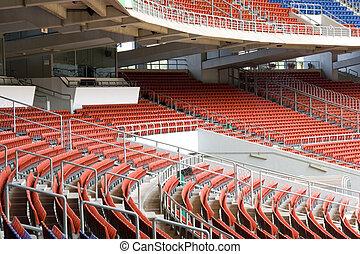 Stadium Seats - Image of colourful empty stadium seats.
