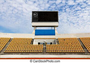 Stadium with scoreboard