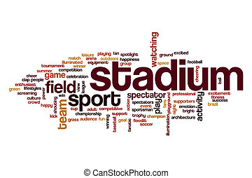 Stadium word cloud concept