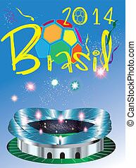 Brazil 2014 world cup soccer 2014 stadium Competition,