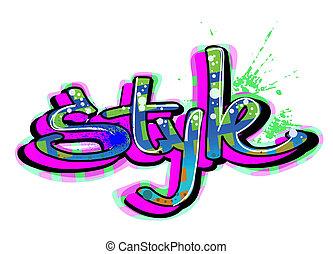 stads- graffiti, konst