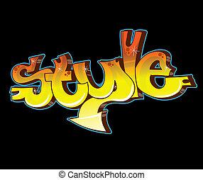 stads- graffiti, vektor, konst, illustration