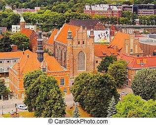 stadsbild, av, gdansk, polen