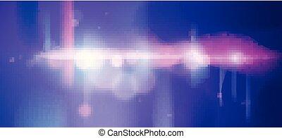 stadt, abend, lights., fenster, dynamisch, fokus, abbildung...