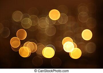 stadt, abstrakt, blitz, lichter, nacht, kreis