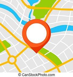 stadt, abstrakt, marker., hintergrund, landkarte