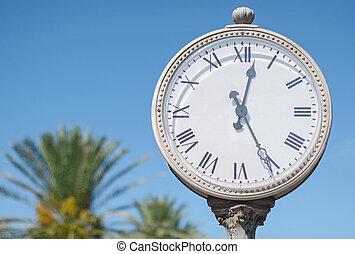 stadt, altes , clock.