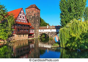stadt, altes , deutschland, nürnberg