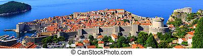 stadt, altes , dubrovnik, panorama, kroatien, ansicht
