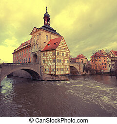 stadt, altes , halle, bamberg(germany)