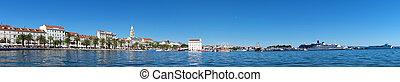 stadt, altes , panoramisch, split, croatia., ansicht