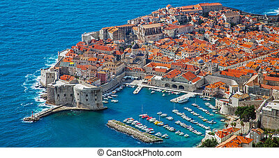 stadt, altes , porto , dubrovnik, kroatien, ansicht
