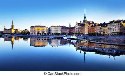 stadt, altes , stockholm